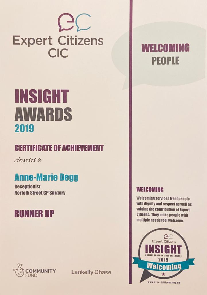Anne-Marie's Certficate